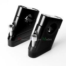 """7/8"""" 22mm Motorcycle CNC Universal Alumium Handlebar Riser Clamp Taper Black"""