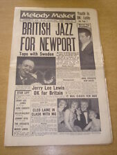 MELODY MAKER 1958 FEBRUARY 22 NEWPORT JAZZ FESTIVAL JERRY LEE LEWIS CLEO LAINE +