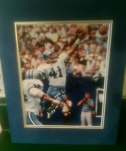 CHARLIE WATERS SIGNED DALLAS COWBOYS 8X10 PHOTO