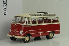1960 Mercedes-Benz O319 Bus Red Cream 1:18 Norev