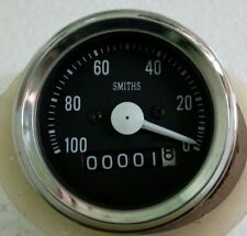 ACW Smith Speedometer Black  Face Chrome Bezel 60 mm