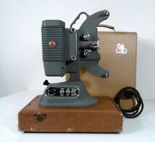 Vintage DeJur 8mm Home Movie Projector Model 750 w/ Original Case Ac Cord 1950s