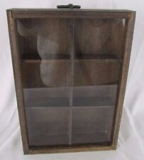 """Small Collection Display Box Glass Topped Display Frame Compartments 9.5"""" x 6.5"""""""