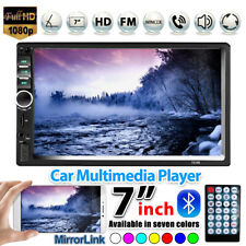 "7"" 2DIN Car Stereo Radio Bluetooth Touch Screen HD MP5 Player USB SD Mirror Link"