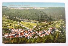 Rarität Litho AK 1916 Bad Teinach m. Blick auf Zavelstein Burg Ruine Schwarzwald