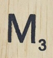 INDIVIDUAL WOOD SCRABBLE TILES! 0.25 cents each, read full description! LETTER M
