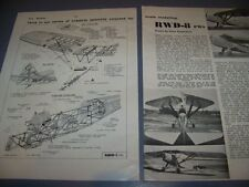 VINTAGE..RWD-8 P.W.S..STORY/HISTORY/3-VIEWS/STRUCTURE...RARE! (537E)