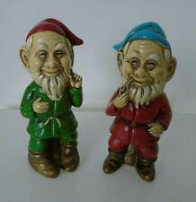 Vintage Elf, Elves, Dwarf, Gnome Figurines, Made in Japan, Mij