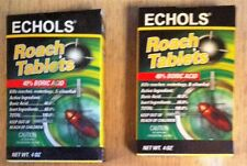 Echols Roach Tablets w/ Boric Acid KILL ROACHES WATER BUGS ANTS NEW 4oz qty2