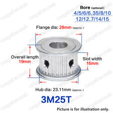 3M-25T Timing Pulley Idler without Bearing 4-15mm Bore 3mm Pitch for 15mm Belt