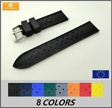 Top Quality Tropical Retro Rubber Strap Waterproof Diver 18-24mm 8 COLORS