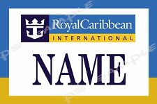 5x7 Magnetic Name Tag for your Cruise Stateroom Door - ROYAL CARIBBEAN