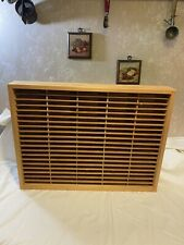 Napa Valley Box Company Wood 100 Cassette Tape Wall Storage Holder Rack Case