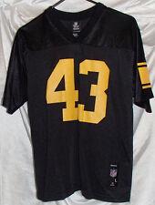 Pittsburgh Steelers Troy Polamalu Black Reebok Football Jersey Youth Size Large