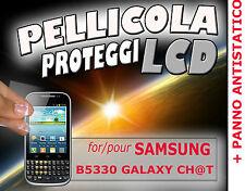 Pellicola protezione LCD per SAMSUNG B5330 GALAXY CH@T CHAT  PANNO ANTISTATICO