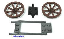 LEGO®  City / Castle 2 Kutschen Räder mit Achse und Gespann