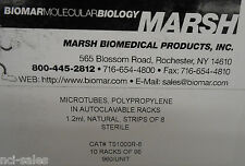 1 BOX OF 960 MARSH BIO MEDICAL PRODUCTS 1.2ml MICROTUBES TS1000R-8