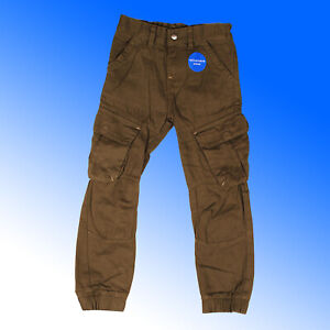 Boys Cargo Combat Trousers 100% Cotton Twill Khaki 6 Pockets 12M - 6 Years