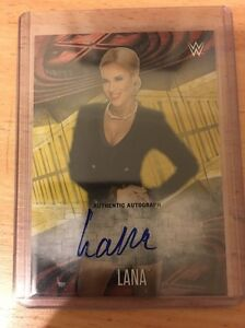 Topps WWE Divas Lana On Card Autograph 01/10