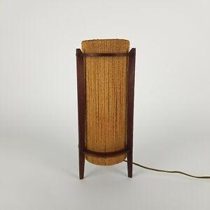 """Danish Modern String Lamp Fog Morup Fabiansen Hemp Desk Danlite Mid Century 15"""""""