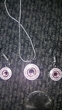 COACH pink BREAST CANCER AWARENESS CHARM & EARRING SET **PRETTY** AUTHENTIC!!