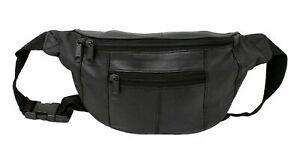 Real Leather Bum Bag Money Waist Belt Fanny Pack Holiday Work Festival Wallet