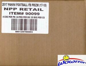 2017 Panini Prizm Football 24ct Retail 20 Box Factory Sealed CASE! MAHOMES RC YR