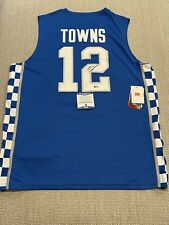 BECKETT COA! KARL ANTHONY TOWNS Signed Autographed KENTUCKY WILDCATS Jersey #12