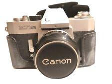 CANON EX AUTO QL 35mm film camera with 50mm F1.8 Ex Lens