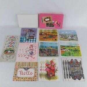 Vtg Postcard Greeting Card Lot MCM Ladies Auxilary VFW Famous Artists Studios