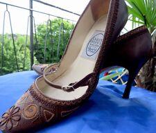 Emma Hope ITALIAN Designer dettagliate donna brown & Beige Scarpa Taglia 38