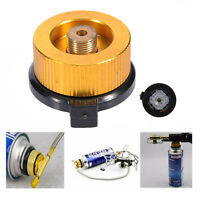 Outdoor Camping Conversion Head Gas Tank Bottle Adaptor Stove Burner Connector #