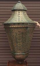 "Giant 60"" Hanging Tin Metal Chandelier Lantern Lamp Moroccan Style Home Decor"