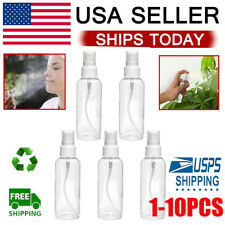 Travel Transparent Plastic Perfume Atomizer Empty Spray Bottle Reuse 100mL Lot