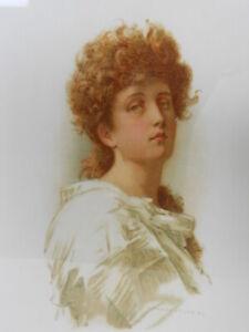 Marcus Stone R.A. Illustration Matted Print - Tennyson's Lady Clara Vere de Vere