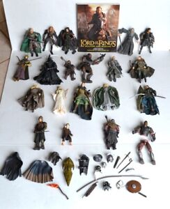 LOTR 40-pc Mixed Lot (20) ACTION FIGURES + (19) ASST ACCESSORIES + (1) BOOK