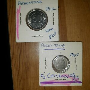 2 Coin Lot From ARGENTINA UNCIRCULATED foreign coins world coins