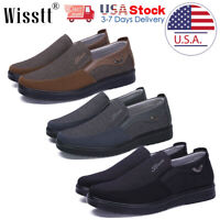 Men's Dress Shoes Slip on Driving Canvas Leather Casual Boots Loafers Moccasins