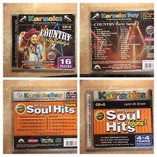 14 Disc LOT CD+G Karaoke Variety of Tracks Soul, Country, Rock, 60's, Britney!!!