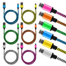 6 x 2m Datenkabel Ladekabel Micro USB Kabel Nylon Kordel Samsung Galaxy S6 HTC