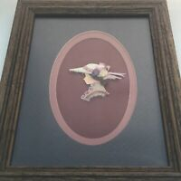 Framed Victorian Lady Silhouette Art Picture Fabric Karens Vintage Kollections