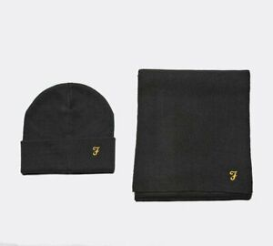 Farah - Hat / Scarf Set (Black) Mens