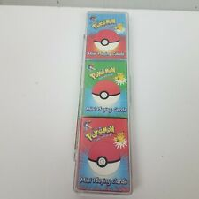 Pokemon Mini Playing Cards Vtg Bicycle Nintendo Pack of 3
