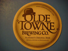 Beer Bar Coaster ~<>~ OLDE TOWNE Brewing Co ~ Huntsville, Alabama's ** 2004-2011