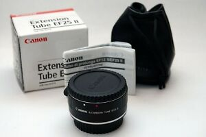 Canon EF25 II Extension Tube + pouch and box for macro EOS lens EF EF-S DSLR
