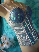 NWOT 'Under The Sea' Mystical Mermaid Fantasy Sequin Corset Top Burlesque