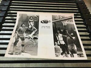 original 1971-72 JULIUS ERVING VIRGINIA SQUIRES ABA BASKETBALL TEAM ISSUED PHOTO