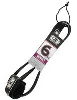 6ft Sunset Legrope, Surfboard Surf Leash In Black From Ocean & Earth
