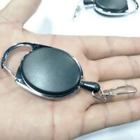 Heavy Duty Steel Cord Retractable Gear Reel Pull Key Ring Key Chain Keyring Cool