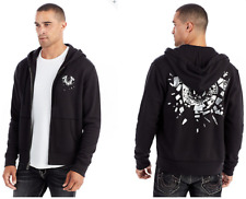 New True Religion Brand Men's Shattered Horseshoe Zip Hoodie $149 Size: L XL XXL